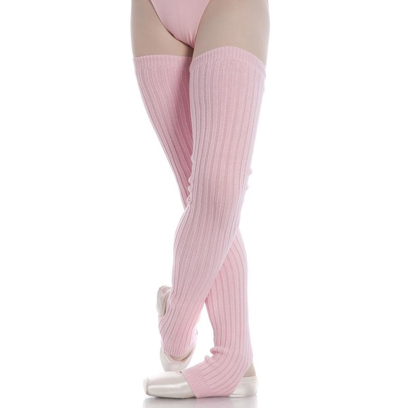Pink thigh leg warmers SOLD
